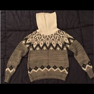 Abercrombie & Fitch Patterned Turtleneck Sweater